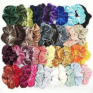Womola 40 Pcs Hair Scrunchies Velvet Elastic Hair Bands Scrunchy Hair Ties Ropes Scrunchie Hair Accessories for Women