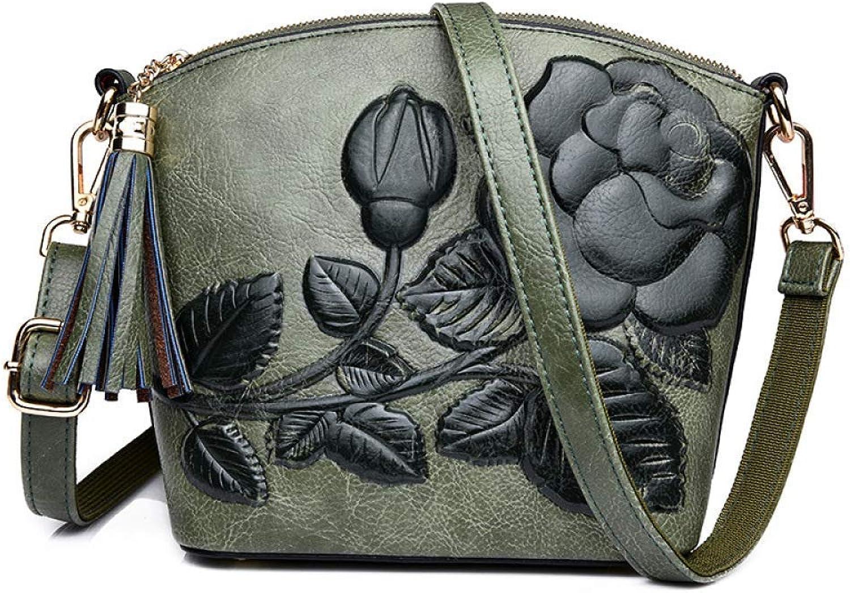 Eeayyygch Umhängetasche Geprägte Quaste Handtasche Schultertasche Schultertasche Schultertasche Diagonal Paket (Farbe   Grün, Größe   30  9  27cm) B07JX96LYN 32335b