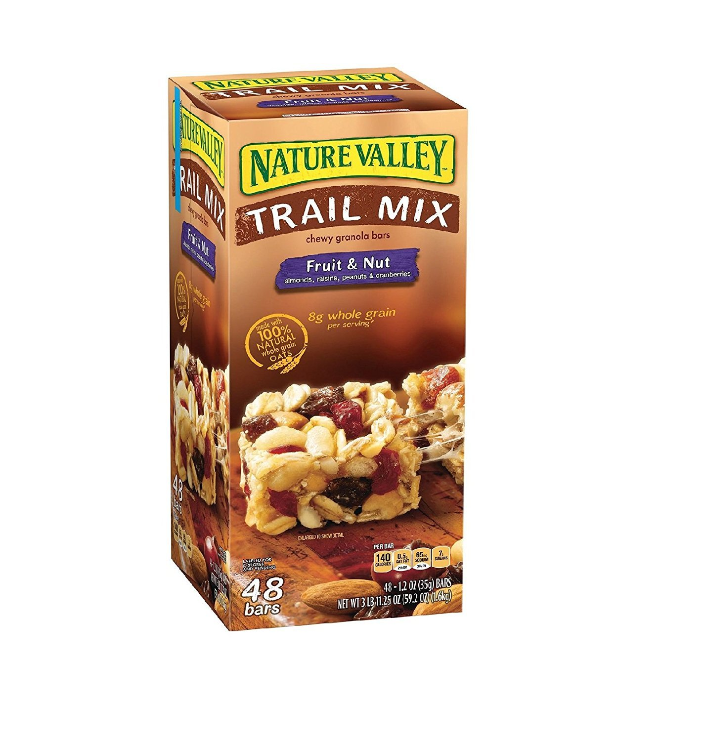 Now on sale Nature Valley Fruit Nut Chewy Trail Max 67% OFF Mix 48 Bars Granola ct.