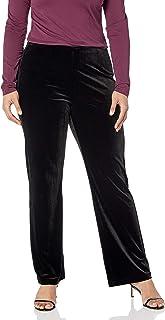 Lyssé womens Plus Velvet Wide Leg Pant Pants
