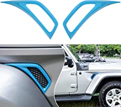 Bonbo Exterior Accessories Car Wheel Eyebrow Side Air Conditioning Vent Outlet Decoration Cover Trim ABS for 2018-2021 Jeep Wrangler JL JLU & Gladiator JT 2PCS (Baby Blue)