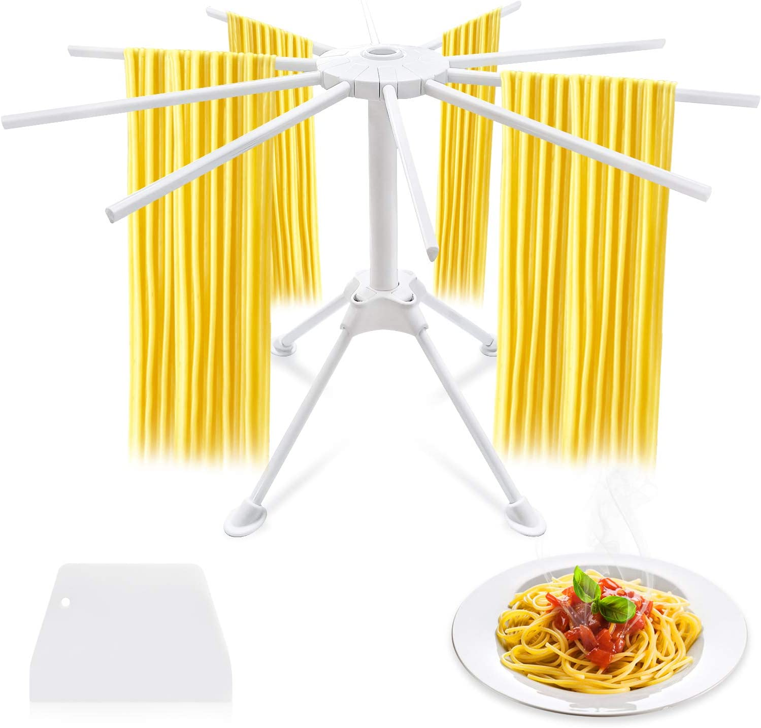 Yifeid Pasta Drying Rack Collapsible 10 kitchen Max 66% OFF use Columbus Mall Easy Arms to