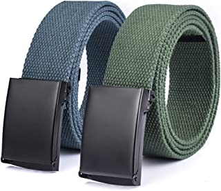 Canvas web Hiker Belt Military Tactical Waist Belt 2 Pack by ViViKiNG