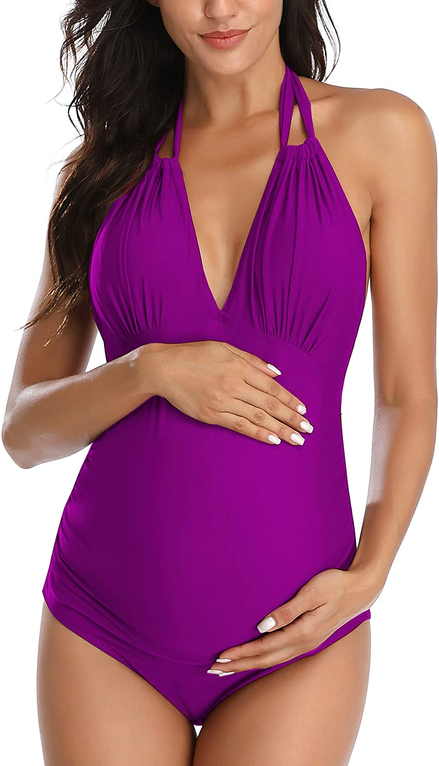 EastElegant Maternity Swimsuits One V-Neck SEAL limited product Genuine Piece Swimw Pregnancy