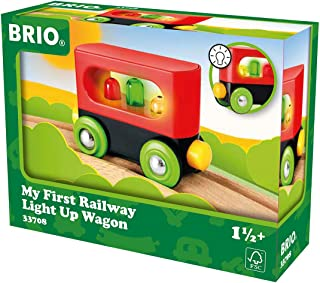 My First Railway Light Up Wagon - Wooden Toys - Ravensburger - Bx-a5-6-t48