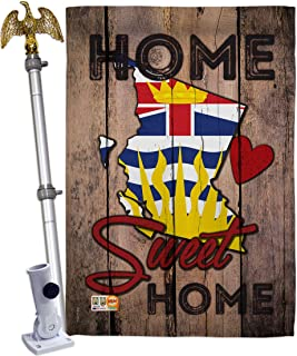 Ornament Collection HS191178-BO-02 Canada Provinces British Columbia Home Sweet Flags of The World Impressions Decorative Vertical 28