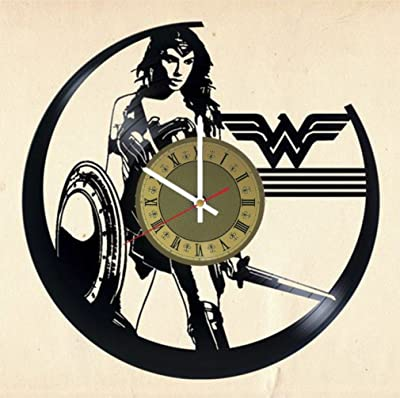 Wonder Woman vinyl wall clock DC Comics great gift for men, women, kids,