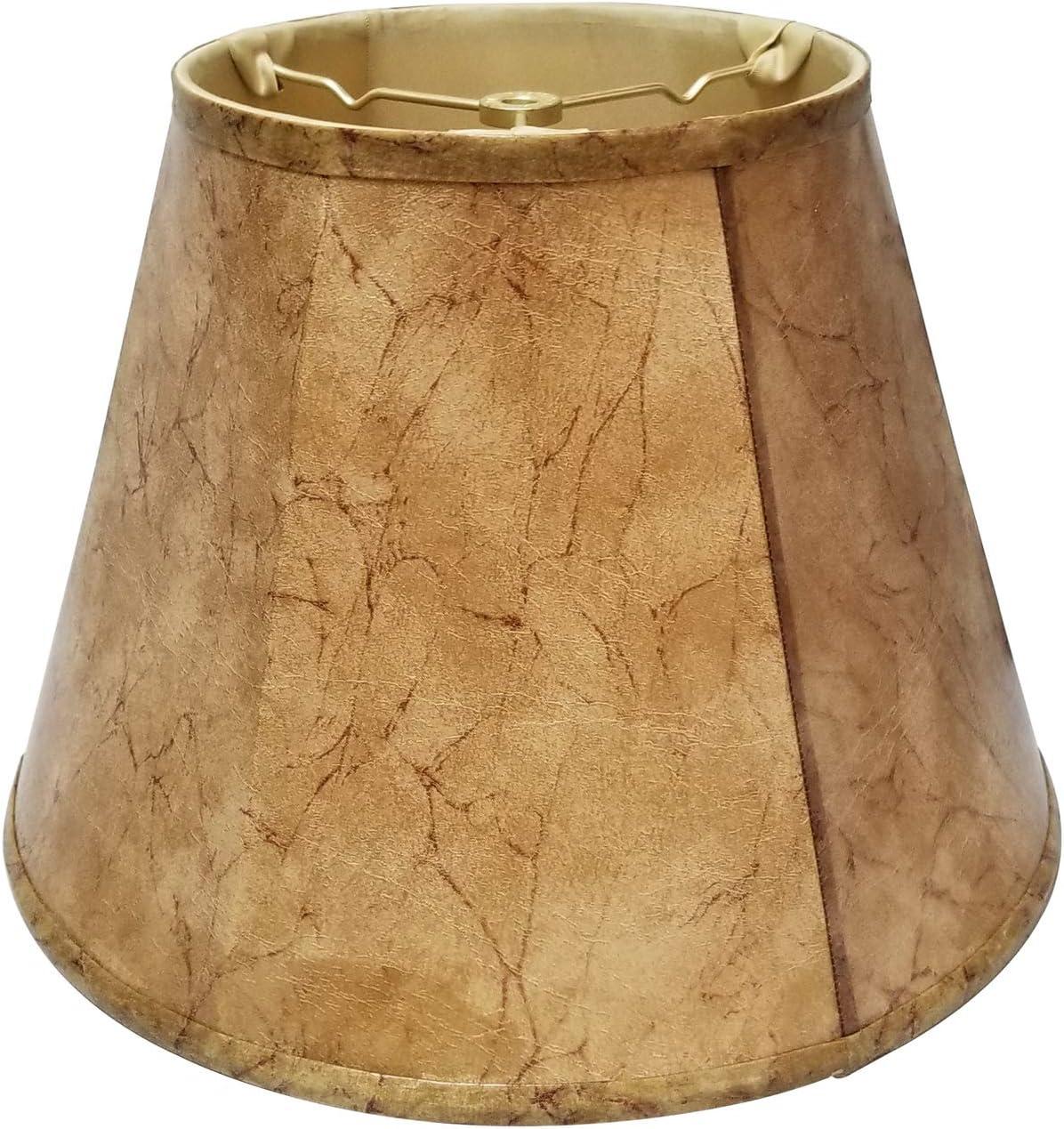 Royal Designs Deep Max 50% OFF Ranking TOP17 Empire Lamp Shade Rawhide 14 11 Faux 8 x