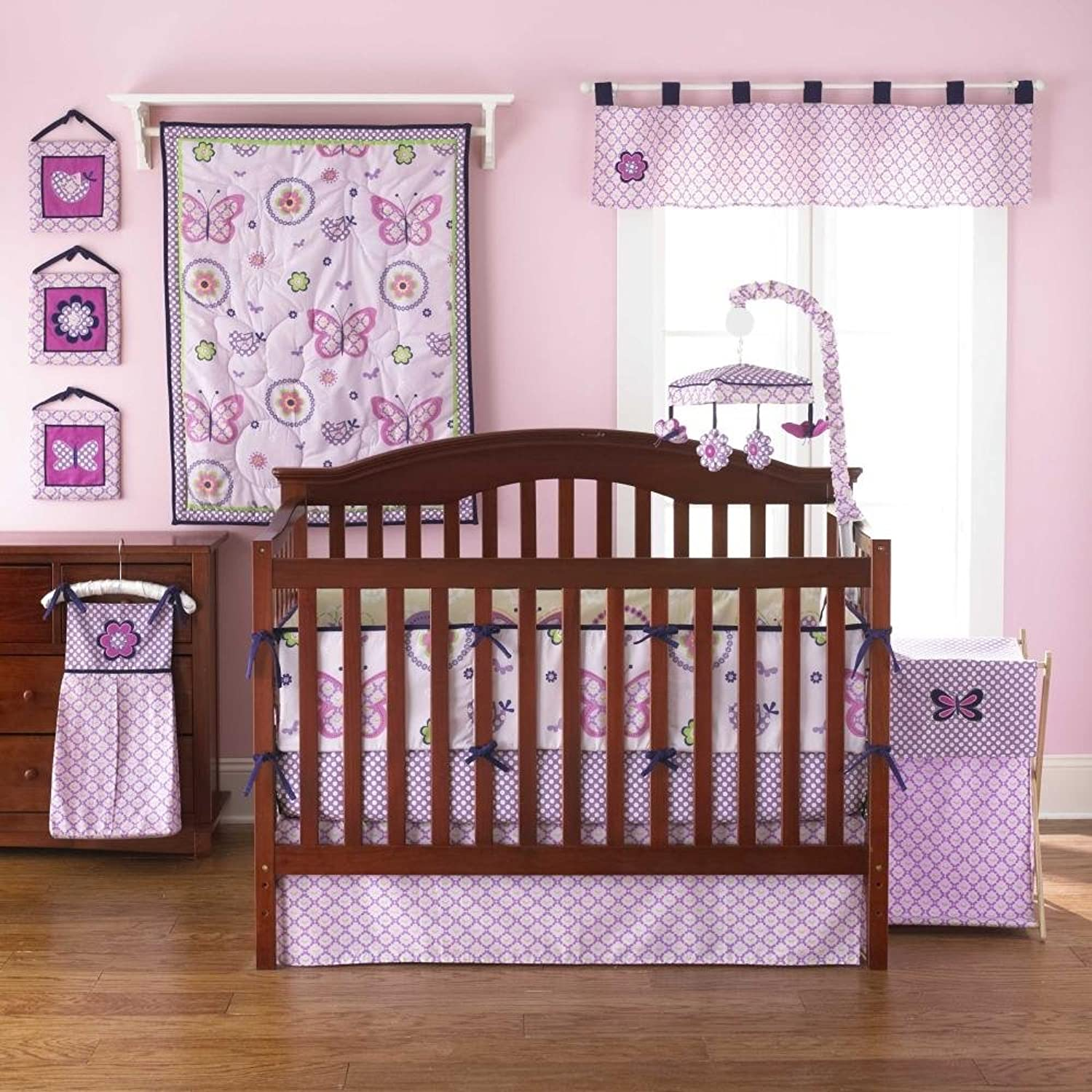 Flutter Reversible 4 Piece Baby Crib Bedding Set by Too Good by Jenny