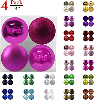 GameXcel Christmas Balls Ornaments for Xmas Tree - Shatterproof Christmas Tree Decorations Perfect Hanging Ball White & Silver 1.6