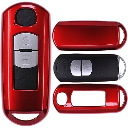 Happyit Autoschlüssel Fall Abdeckung Kohlefaser Muster Weiches Silikon Für Mazda 2 3 5 6 Cx 5 Cx 7 Cx 9 Cx 3 Cx 4 Cx 4 Mx5 Axela Atenza 2015 2018 2 3 Tasten Keyless Fernbedienung Auto