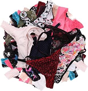 UWOCEKA Sexy Thongs for Women,Varity of T-Backs Sexy Underwear Pack of G Strings Lacy Undies Panties Tanga