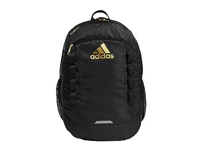 adidas Excel V Backpack (Black/Gold) Backpack Bags