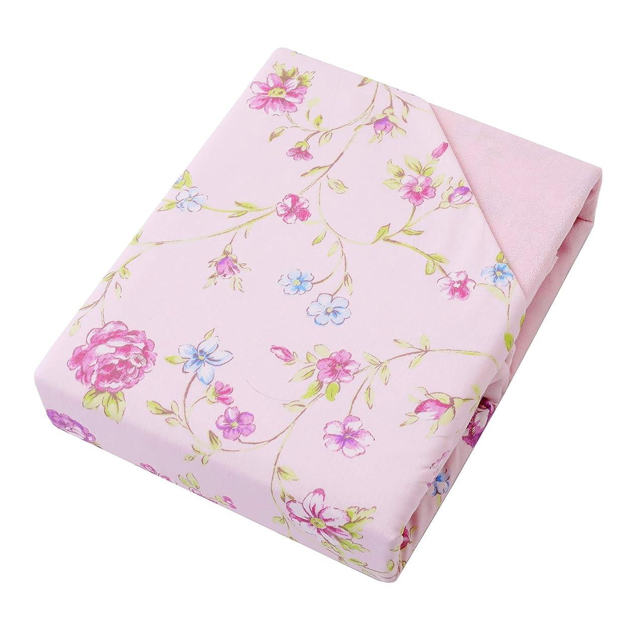 人質放散する九東京西川 あったか 掛け布団カバー ピンク シングル なめらか パイル 小花柄 マイモデル PI09000016D2