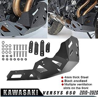 Negro perfk 2 Piezas De La Motocicleta Delantera Y Trasera Del Sensor ABS Protector De La Cubierta Protectora Para Kawasaki Versys 650 Vulcan 650 S