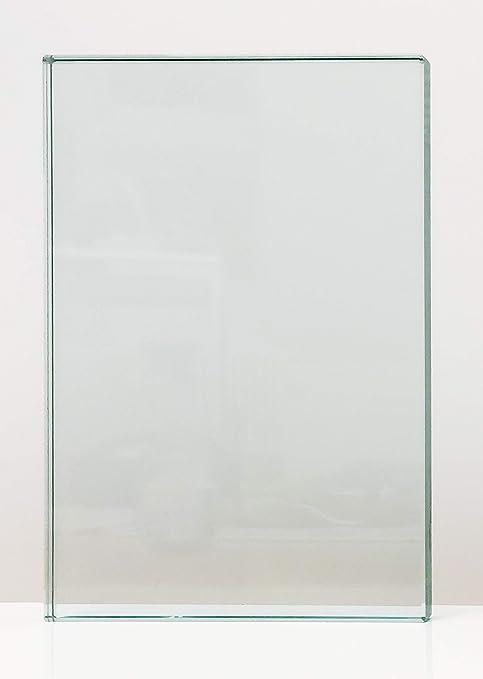 Einscheibensicherheitsglas ohne Stempel Glasplatten ESG 6mm 1000 x 1000 mm Kanten geschliffen und poliert Nach Ma/ß bis 100 x 100 cm Ecken gesto/ßen klar durchsichtig biege- und sto/ßbelastbar.