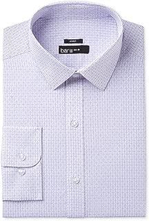 Mens Printed Slim Fit Dress Shirt
