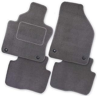 Bär AfC MB02186 Royal Auto Fußmatten Velours Grau, Rand Kettelung Grau, Textiler Trittschutz, Set 4 teilig, Passgenau für Modell Siehe Details