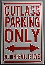 Motown Automotive Design Metal Street Sign Cutlass Parking ONLY 12 x 18 HOT Rod Muscle CAR BAR Shop Home Office Garage Man CAVE Restaurant Wall Art Gift FITS Chevy OLDS Oldsmobile Hurst