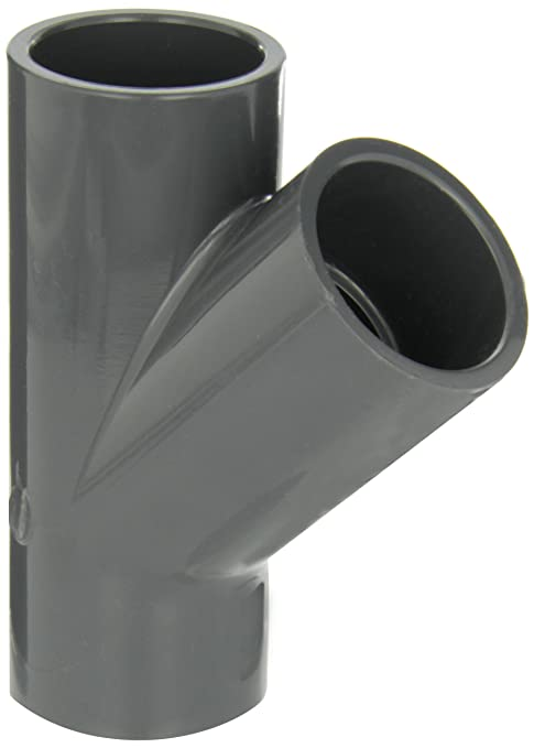 Coupling Schedule 80 3//4 Slip Socket Gray GF Piping Systems PVC Pipe Fitting