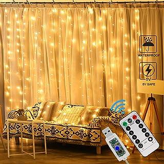Zorara Cortina de Luces LED Navidad,3m x 3m Cortina Luces