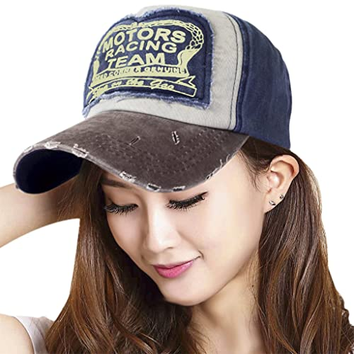 70553163 YJZQ Unisex Cotton Baseball Cap Retro Trucker Cap Adjustable Fashion Snap  Back Hat Classic Hip-