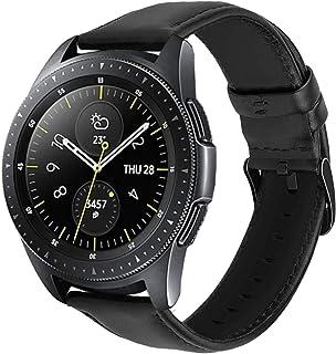 20 mm klockarmband för Huawei Watch GT/GT2 42 mm/Samsung Galaxy Watch Active 2/Galaxy Watch 42 mm läderrem mjukt armband s...