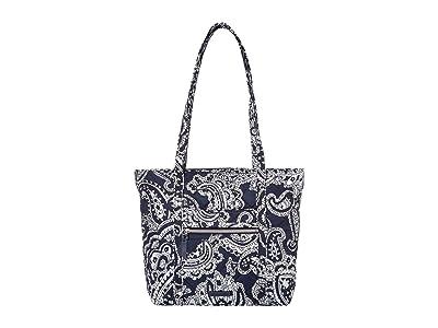 Vera Bradley Iconic Small Vera Tote (Deep Night Paisley Neutral) Tote Handbags