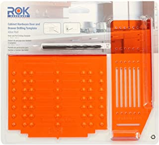 Rok Hardware Knob Handle Pull Drill Mount Template for Cabinet Doors and Drawers