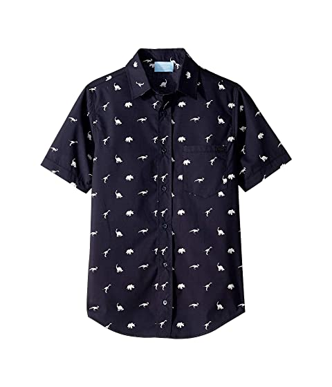 Lanvin Kids Dino Button Up Shirt (Big Kids)