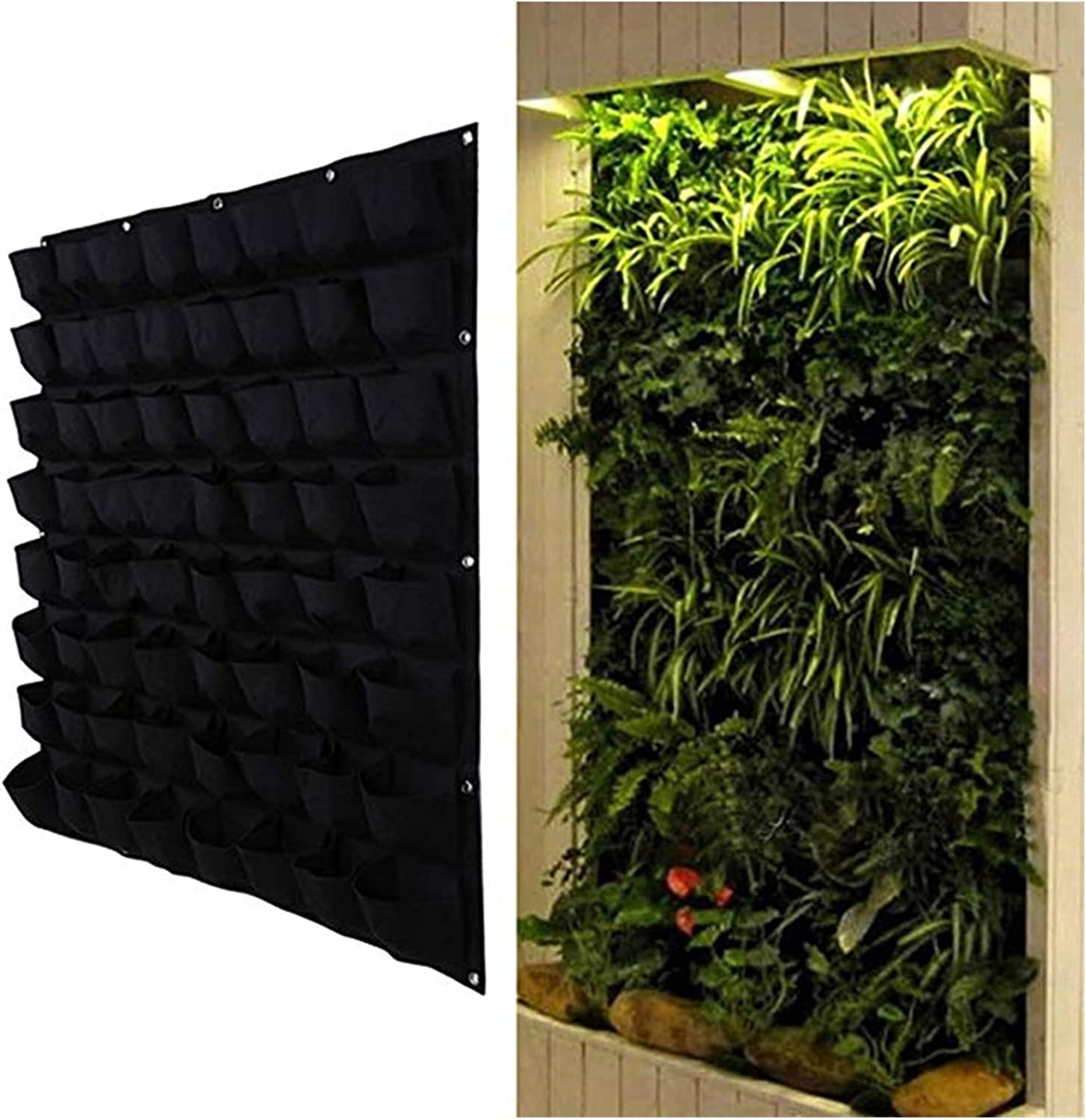 Black Color Wall Hanging Planting Indianapolis Mall Bags 36 Bag Pockets Grow 72 Genuine Pl