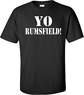 STUFF WITH ATTITUDE YO RUMSFIELD Black T Shirt