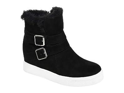 Journee Collection Comfort Foam Angelique Wedge Bootie (Black) Women