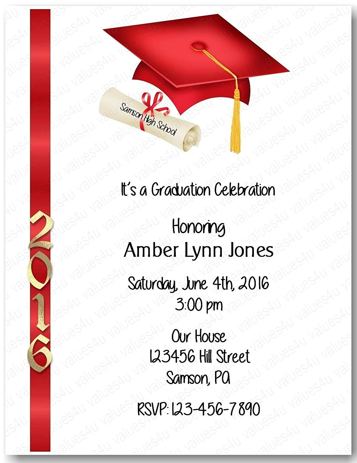 Personalized Graduation OFFicial New Orleans Mall shop Party party933 graduation Invitation