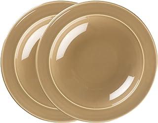 Emile Henry Made In France 9-inch Soup/Pasta Bowls, Set of 2, Sand