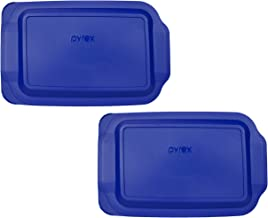 "(2) Pyrex 233-PC 3 Quart Blue 9"" x 13"" Baking Dish Lids - Will NOT Fit Easy Grab Baking Dish"