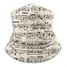 SMDSO6ghj Sheet Music Seamless Neck Gaiter Scarf Bandana Face Mask Seamless UV Protection for Motorcycle Cycling Riding Running Headbands Unisex
