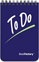 BookFactory to Do List Notebook/Mini to Do Journal/Pocket ToDo List Notepad, 120 Pages - 3 1/2