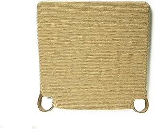 Arcoiris Pack 6 Almohadillas para sillas 40x40cm, Relleno de Fibra y Espuma, Cómodos, Resistentes, Fácil de Limpiar, para Cocina, Cuarto, Sala, Jardín, Terraza, Patio (Caqui, Fantasy)