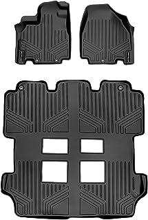 MAXLINER Floor Mats 3 Row Liner Set Black for 2011-2017 Honda Odyssey