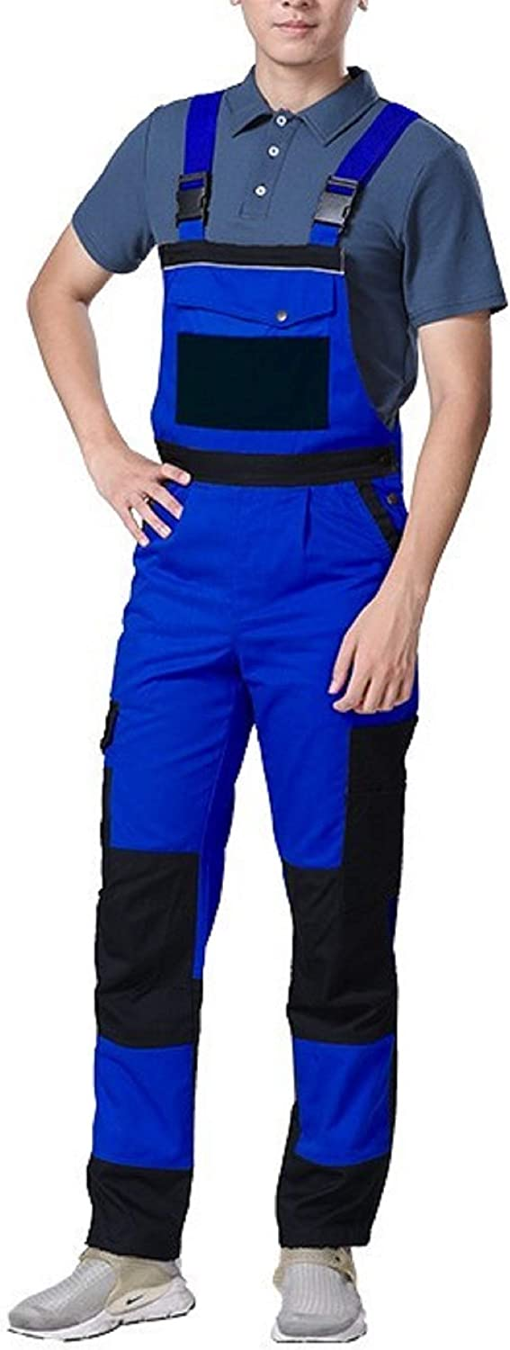 Elonglin Overalls outlet Men's Work National uniform free shipping Pants Cargo Br and Bib Pocket Multi