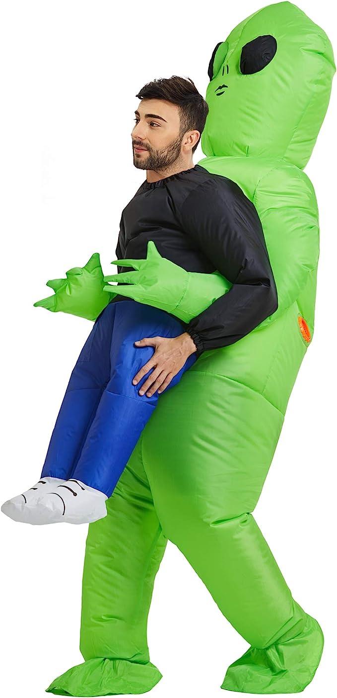 alien abducting man halloween costume