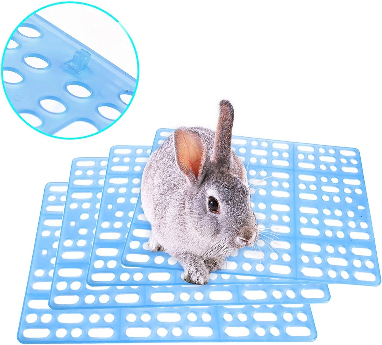 Hamiledyi Rabbit Cage Mats Small Animal Plastic Feet Pads Floor Mat for Pet Cats Dogs Bunny Hamster Rat Chinchilla Guinea Pig, 4 Pcs
