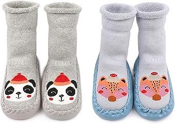 Adorel Calcetines Zapatos Antideslizantes Forros Bebé 2 Pare