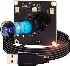 IEights 13MP Usb Webcam Mini Camera,2880P USB Computer Webcam CMOS IMX214 4K Web Camera,FOV 70 Degree Fix Lens Cam,UVC Com...