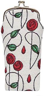 Charles Rennie Mackintosh Rose Art Nouveau Soft Glasses Case/Sunglasses Bag/Reading Glasses Bag/Spectacle Pouch by Signare...