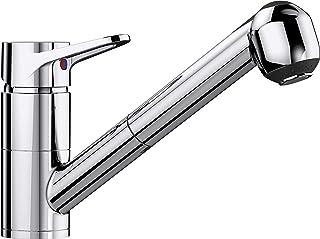 BLANCO 511268 511 268 ORION-S, Küchenarmatur-Einhebelmischer, mit ausziehbarer Brause, Oberfläche chrom, Hochdruck, 1 Stück