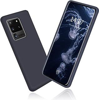 abitku Galaxy S20 Ultra Case, Slim Liquid Silicone Gel Rubber Shockproof Soft Microfiber Cloth Lining Cushion Compatible with Samsung Galaxy S20 Ultra 5G 6.9 inch 2020 (Midnight Blue)