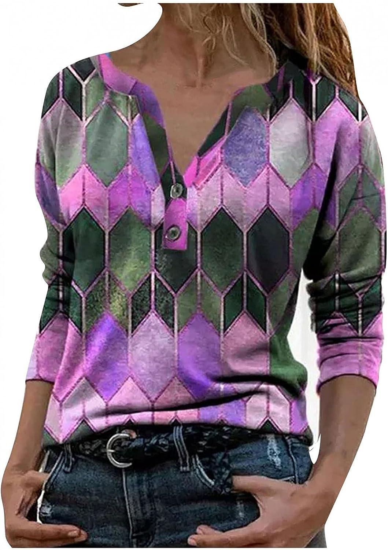 AODONG Summer Tops for Womens,Women Button Short Sleeve Blouse T-Shirt Casual Pullover Workout Shirts