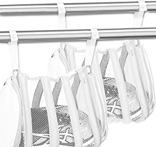joli® 洗濯機で洗える シューズ洗濯ネット ネットごと干せる 上履き スニーカー ランドリーネット 丸洗い 吊るして干せる フック付き 手軽 (2個)